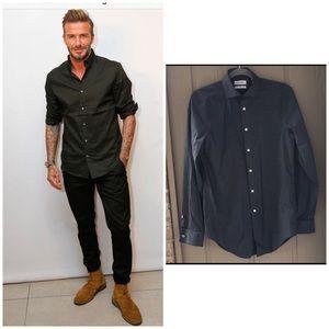 Calvin Klein Mens shirt slim fit black 32/33